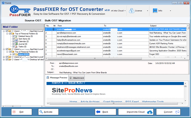 PassFixer for OST to PST Converter Screenshot
