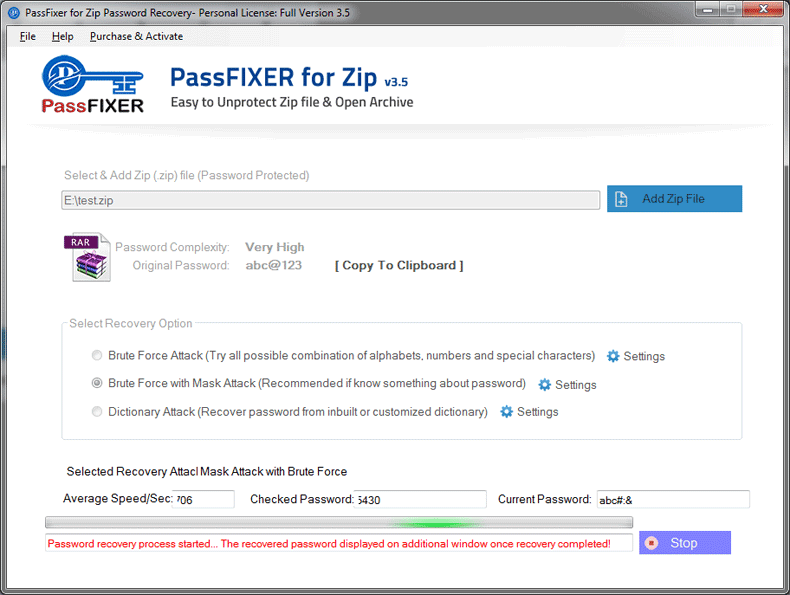 PassFixer ZIP Password Recovery